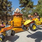 Family on ride at Knott's Berry Farm in Buena Park, CA