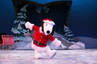 Snoopy on ice at Knott's Merry Farm in Buena Park