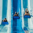 Family going down water slide at Knott's Soak City in Buena Park