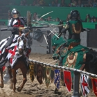 Knights jousting at Medieval Times in Buena Park, CA