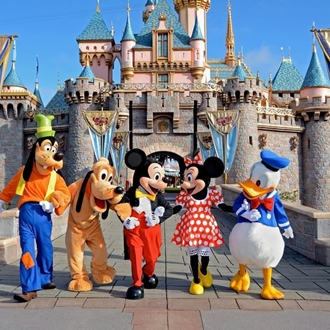 Mickey and friends at DIsneyland