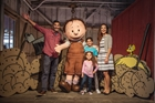 Pigpen with family at Knott's Berry Farm in Buena Park, CA