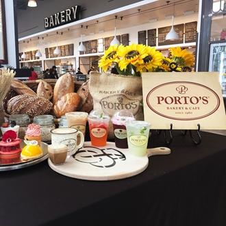 Variety of foods at Portos Bakery in Buena Park, CA.