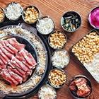 Meat with sides at Kitakata Ramen Ban Nai in Buena Park, CA
