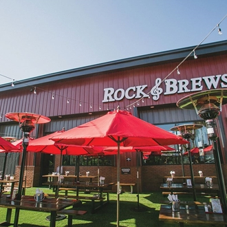 Rock and Brews Outdoor Seating in Buena Park, CA