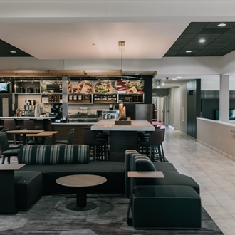 Interior of Courtyard by Marriott in Buena Park, CA.