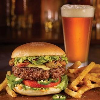 Burger at TGI Fridays in Buena Park, CA.