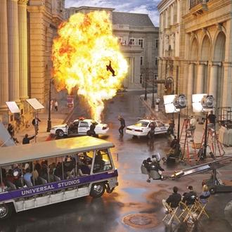 Universal Studios Tour with Explosion Set Piece