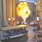 Explosion on set at Universal Stuido Hollywood