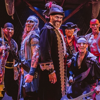 Group of vampire pirates at Pirates Dinner Adventure in Buena Park