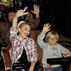 Celebrity Gwen Stefani on ride at Knott's Berry Farm in Buena Park, CA.