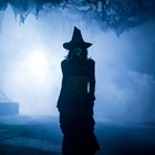 Witch in fog at Knott's Scary Farm in Buena Park, CA