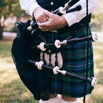 Man wearing kilt at Scots Festival