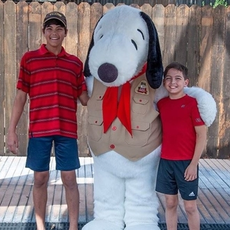 Boys with snoopy