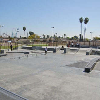 Skate park at William Peak Park in Buena Park