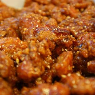 Chicken at Pelicana Chicken in Buena Park, CA