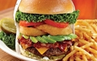 Burger and fries at Claim Jumper in Buena Park