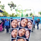 Photos of couple at Knott's Berry Farm in Buena Park