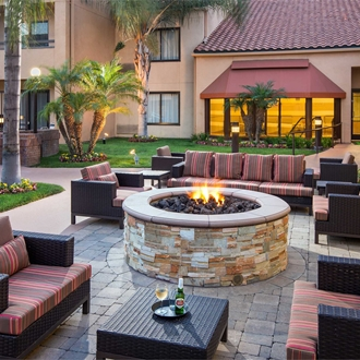 Outside Patio at Courtyard Marriott in Buena Park, CA