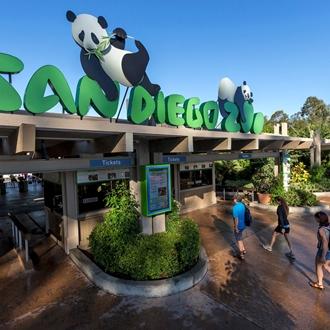 San Diego Zoo Entrance with Panda Bear