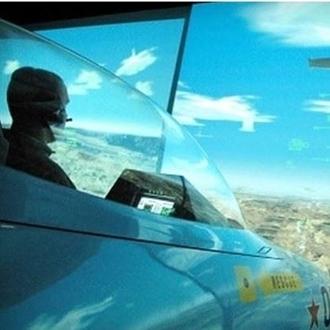 Man in airplane at Flight Deck