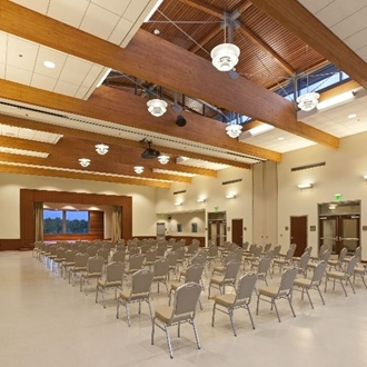 Conference room with chairs at Heritage Hall in Buena Park