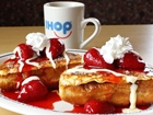 French toast with strawberries and whip cream at IHop in Buena Park