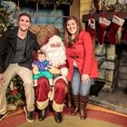Family with Santa at Knott's Berry Farm in Buena Park