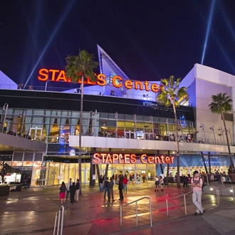 Staples Center building home to the LA Clippers