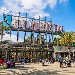 Los Angeles Zoo entrance and sign