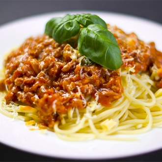 Spaghetti and meat sauce at Lupo D' Abruzzo in Buena Park