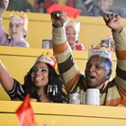 Couple cheering at Medieval Times in Buena Park