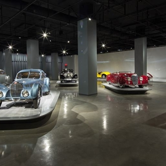 Classic cars at Petersen Automotive Museum