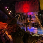 Ship from the front with pirate flag at Pirates Dinner Adventure
