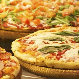 Pizza at Supreme Pizza bar in Buena Park, CA