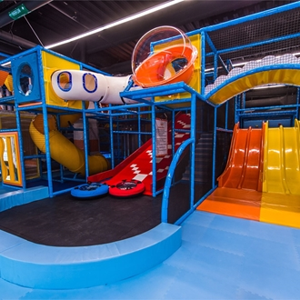 Play area at Play Pie in Buena Park