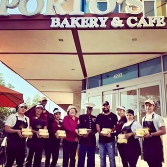 Portos employees and veterans at Portos in Buena Park