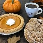 Pie, coffee, pumpkin at Porto's in Buena Park, CA