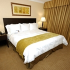 King bed at Radisson Suites in Buena Park