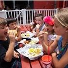 Children eating at Rock & Brews in Buena Park