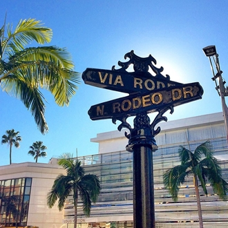 Rodeo Drive sign at Rodeo Drive Beverly Hills