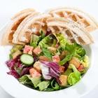 Salad and waffle at Quick Bowl in Buena Park