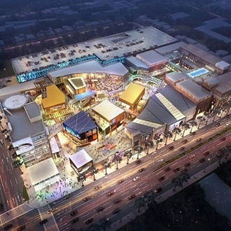 Aerial view of the mall The Source OC