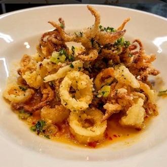 Calamari dish at Spencer's Bistro