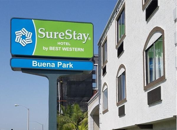 Surestay sign in Buena Park
