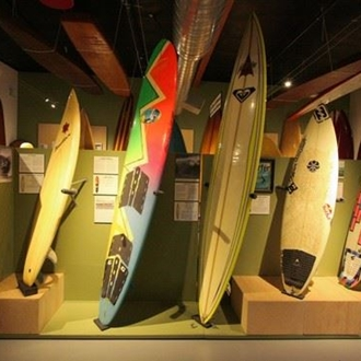 Surfboards at International Surfing Museum