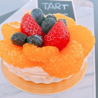 Orange fruit tart at The Bakery in Buena Park