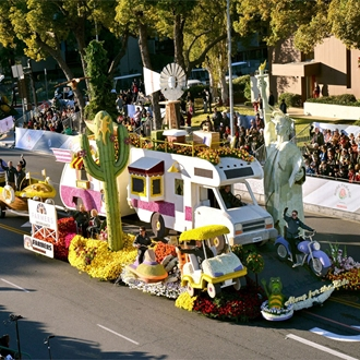 Float at the Tournament of Roses Parade