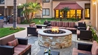 Outdoor fire pit at Courtyard Marriott in Buena Park