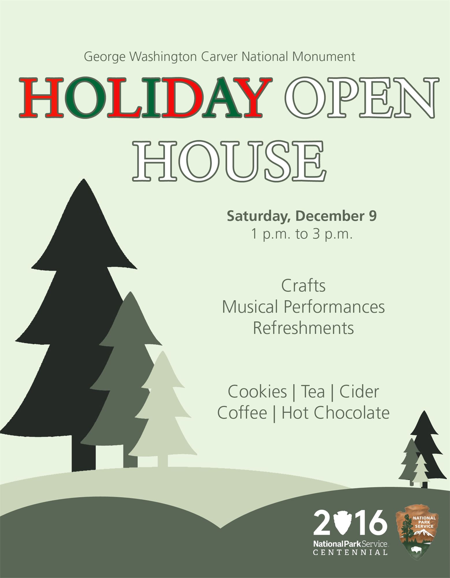 holiday open house at george washington carver national monument